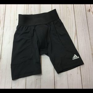 Adidas black athletic shorts with cup sz xs